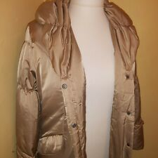 Gold Womens Coat Size 16 Knee Length Pockets