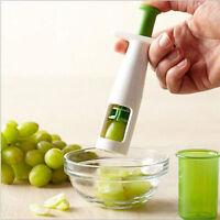 Green Fruit Tomato Grape Peeler Cherry Slicer Cutter Kitchen Utensil Easy Tools