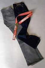 Damen Jeans Jeanspaket  MOGUL Grau u. Dunkelblau mit Gürtel Gr. 36 Inch Gr. 28