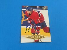 Pierre Turgeon Canadiens 1994-95 Fleer Ultra Signed Auto Card