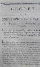 Décret Comptables verseront à la Trésorie nationale sommes reliquataires 1792