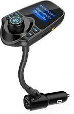 Nulaxy Wireless In-Car Bluetooth FM Transmitter Radio Adapter Car Kit With 1.44