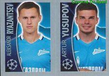 535 RYAZANTSEV / YUSUPOV  RUSSIA FC.ZENIT STICKER CHAMPIONS 2016 TOPPS