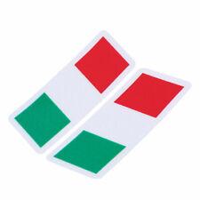 2X 3D Blade Sticker Decal Italy Italian Flag Car Side Door Fender Emblem Badge
