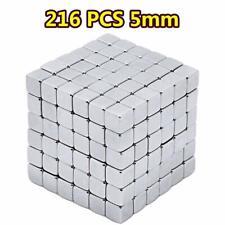 Myyagew Magnetic Cube 216pcs 5mm Multi-Use Square Magnets Blocks Educational T.