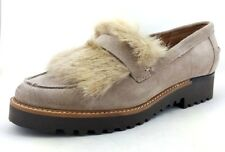 Franco Sarto Cyrus Loafers w/ Faux Fur Trim - Cocco Suede - Size 6 - NEW