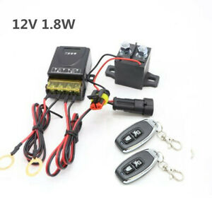 Wireless Remote Car Battery Disconnect Kill Cut-off Switch Power Isolator System