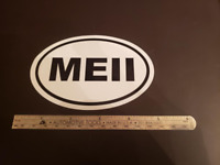 MEII Oval Sticker Aviation Pilot Aircraft Cessna Piper Cirrus Diamond Mooney