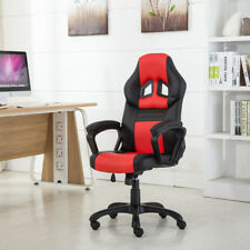 High Back Race Car Style Bucket Seat Office Desk Chair Gaming Chair Red Black