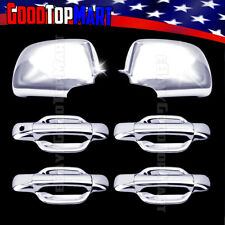 For Chevy COLORADO 2004-2010 2011 2012 2013 Chrome Covers Set Mirrors + 4 Doors