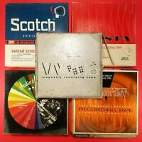 """Lot of 5 - Vintage 7"""" Used Reel To Reel Magnetic Recording Tapes UNTESTED     #3"""