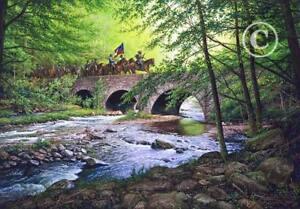 "GOOSE CREEK BRIDGE by John Paul Strain  Archival paper giclée - 19 1/4"" x 27 1/2"