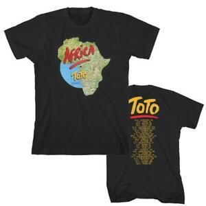 Toto Africa 1980s European Tour Classic Rock Pop Music Band T Shirt M241427