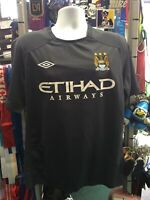 Umbro Manchester City Away 10-11 Purple Soccer Jersey Size L Men's Only