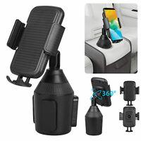 US Portable Universal 360°Car Adjustable Gooseneck Cup Holder Cell Phone Cradle