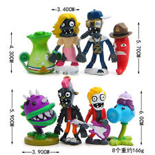 The new 8ps/set Plants vs.Zombies dolls Anime action figure pvz Kids Gift
