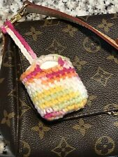 Knitted AirPods case Apple Crochet apple cover Tiny Tote Bag Charm Bag Holder