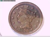 1848 Large Cent PCGS VF 25 18443259 Video