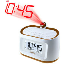 Sharp PROJECTION ALARM CLOCK with 8 SOOTHING SLEEP SOUNDS & DUAL ALARM Ceiling