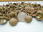 """65 SOLID BRASS PATINA TACKS 11/16"""" DOME TOP LEATHER RECLAIMED FURNITURE CRAFTS"""