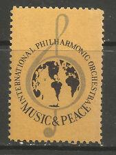 Orquesta Filarmónica de música y la paz internacional sello de cartel/Etiqueta