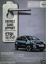 Publicité advertising 2012 Nissan Note