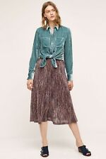 NEW Anthropologie Maeve Wynne Knit Skirt by Maeve in Purple  Size Small
