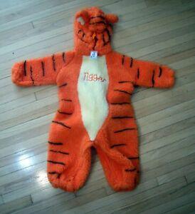 Winnie the Pooh Tigger costume Disney Store 12-24 month jumpsuit plush NEW NOS