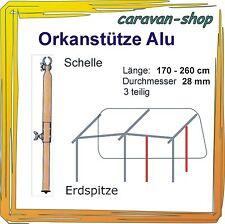 Alu Orkanstütze 28 mm Zelt-Stange Zusatzgestänge Zeltstangen Vorzelt Wohnwagen