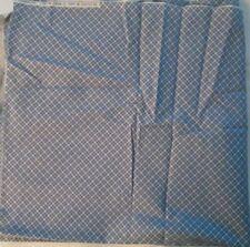 "1/2 yard x 44"" vintage Marti Michell Design Blue & White Check Fabric Plaid"