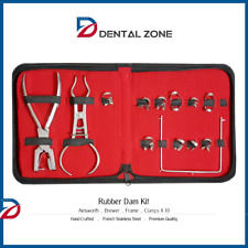 Rubber Dam Kit Starter Of 10 Pcs Clamps Ainsworth Brewer Dental Instruments
