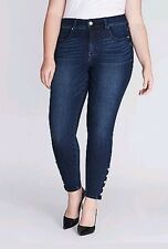 New Melissa McCarthy Seven7 Jeans 28 Pencil Skinny Button 4 Way Stretch Solid