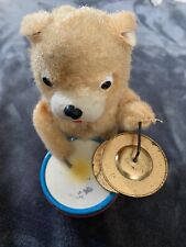 Vintage Wind Up Toy Bear With Drum & Cymbals Japan