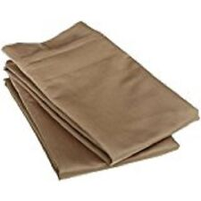 New 1200 TC 100% Egyptian Cotton  King Solid Pillow cases Pillowcases Taupe