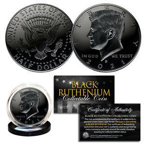 BLACK RUTHENIUM 2021-D JFK Kennedy Half Dollar U.S. Coin with COA - Denver Mint