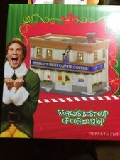Department 56 Elf The Movie World'S Best Cup Of Coffee Shop Nib