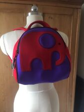 DabbaWalla Red and Purple Elephant Child Toddler Backpack