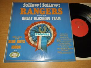 GLASGOW RANGERS FOLLOW FOLLOW-UK HALLMARK HM 555 LP / BLUE BOYS OF IBROX Vg++