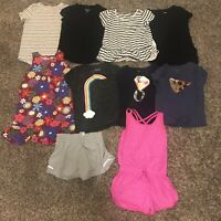 10 Piece Lot Girls Size 6 7 Romper Shirts Dress Clothes Hanna Gap Old Navy