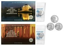2020 W+W+S+P+D Jefferson Nickel Collection ~ 5 Coin Set ~ REVERSE PROOF/PROOF/BU