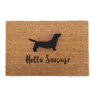 Doggy Coir Doormat: Quality Natural Non-Slip Indoor Outdoor Entrance Mat NEW UK