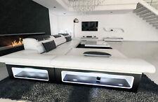 Ledersofa Designer Eck Couch MONZA L Form Designersofa Modern Leder LED Ecksofa