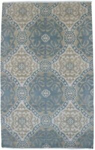 Hand-Knotted Modern Design Rare 6X9 Oriental Home Decor Wool Rug Bedroom Carpet