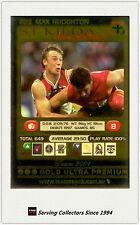 2001 AFL Teamcoach Gold Parallel Card 223 Max Hudghton (St Kilda)