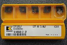 Tournant Plaques 5 x tournant de coupe disques KENNAMETAL CCMT 09t308lf kc910 Inserts