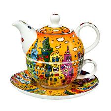 """Rizzi by Goebel """"Tea for one"""" Nuovo/Scatola Originale teiera, tazza & Sottobicchieri Set 26101731"""