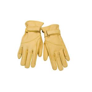 Handschuhe Leder Cowboy gelb gefüttert Arbeitshandschuhe Reithandschuhe Gr. 4XL