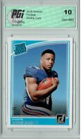Saquon Barkley 2018 Donruss Football #306 Rated Rookie Card PGI 10