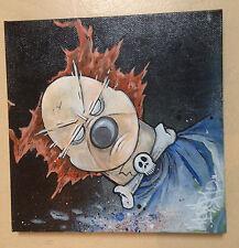 oeuvre originale  - peinture signée - graffiti toile clown art ça posca canvas
