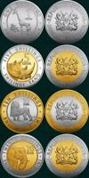 NEW: KENYA Coins set of 4 coins (2018); includes ( 1+5+10+20 shillings) all mint